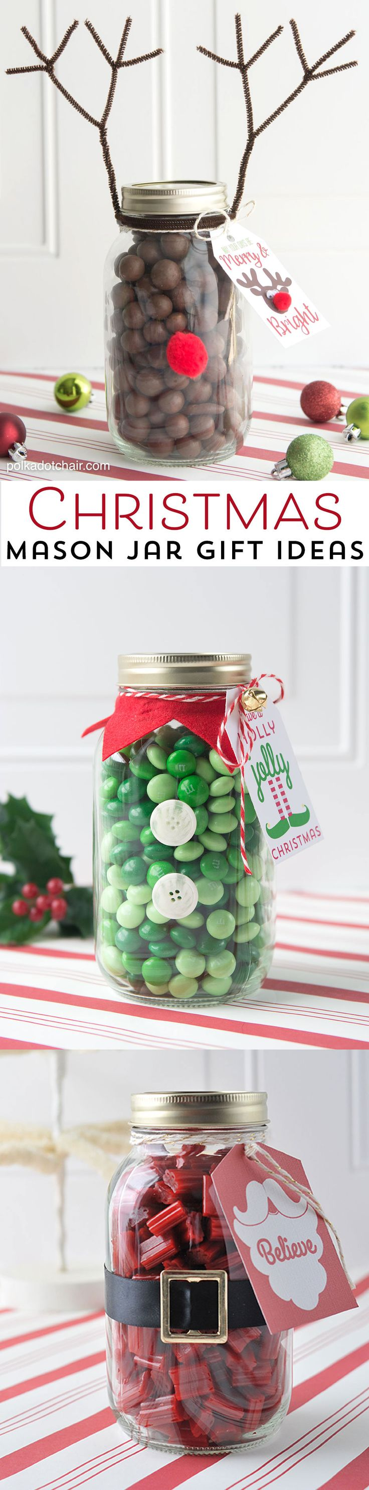 Reindeer Mason Jar Christmas Gift idea, so cute and easy. Would make a fun neigh...