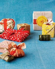Eco Gift Wrap: Trade the usual wrapping paper for an old rice sack, scraps from ...