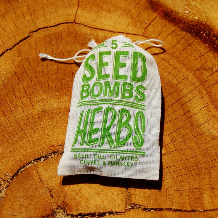 Herb Seed Bombs - great little hostess gift or party favor for spring.