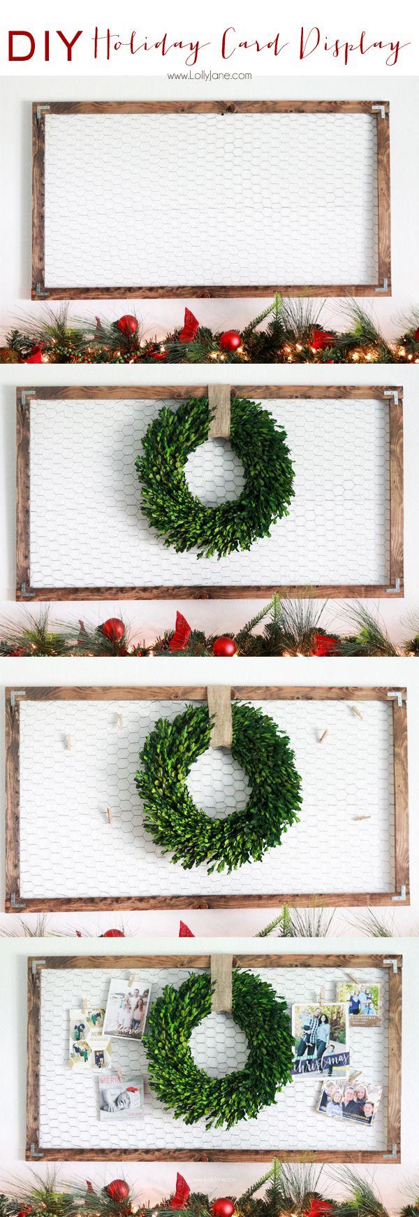 DIY | Easy holiday card display for all those Christmas cards! #christmas #xmas ...
