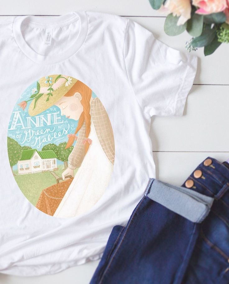 Anne of Green Gables (AOGG) - t-shirt. Love the romantic image of Anne Shirley w...