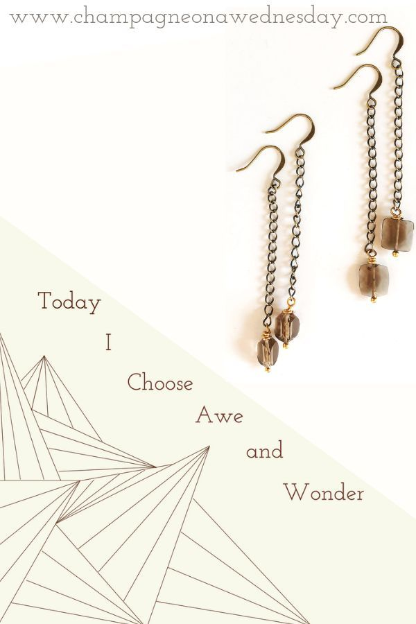 Brilliant smoky quartz gemstone dangle from antique gold plated chain in these b...