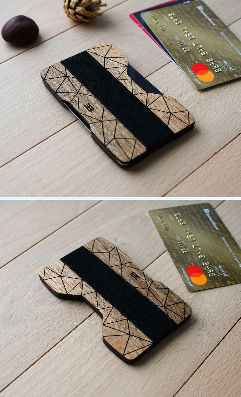 Personalized slim wallet card wallet cardholder card holder card case minimalist...
