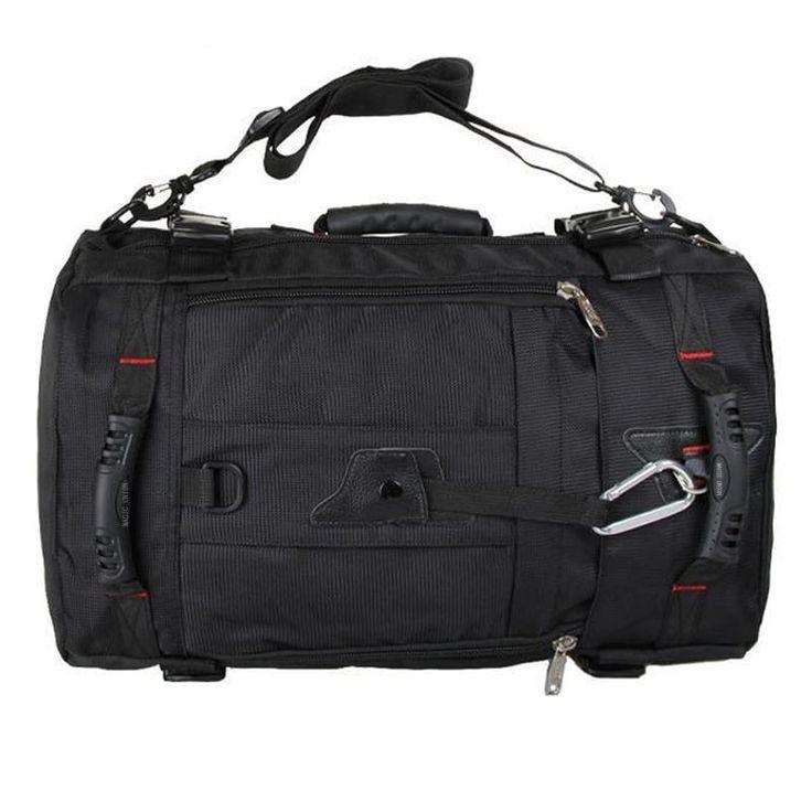 Apex Black Travel Backpack Duffle Converter