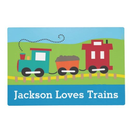 Personalized Train Playmat Placemat
