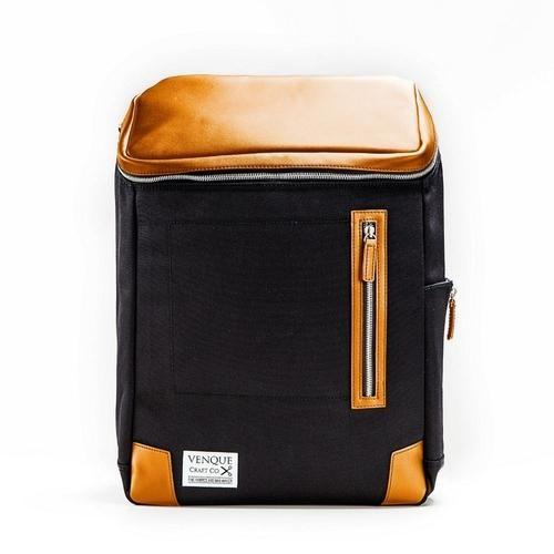 SOHO Leather Trim Black Backpack Organizer