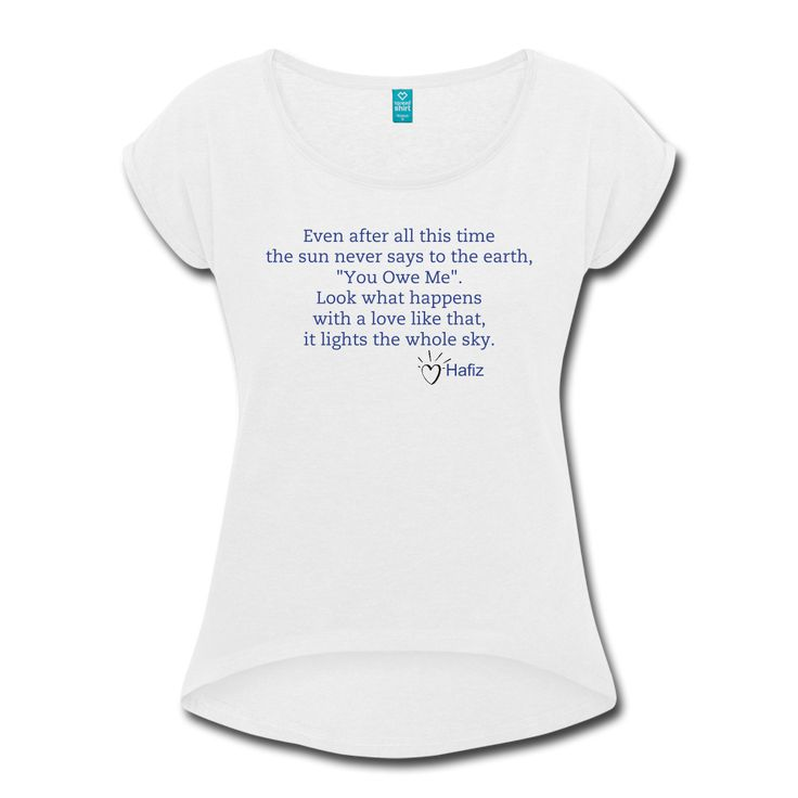 Women's Hafiz Inspire Roll Cuff Organic Cotton T-Shirt