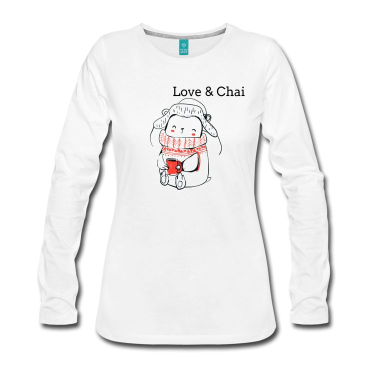 Women's Premium Long Sleeve Organic Love & Chai T-Shirt