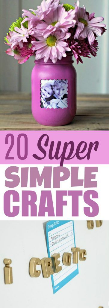 Just because these crafts are super simple does not mean they aren't awesome. ...