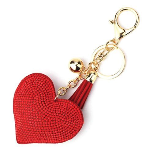 Love Heart Tassel Keychain is a perfect little gift for your girlfriend this Val...