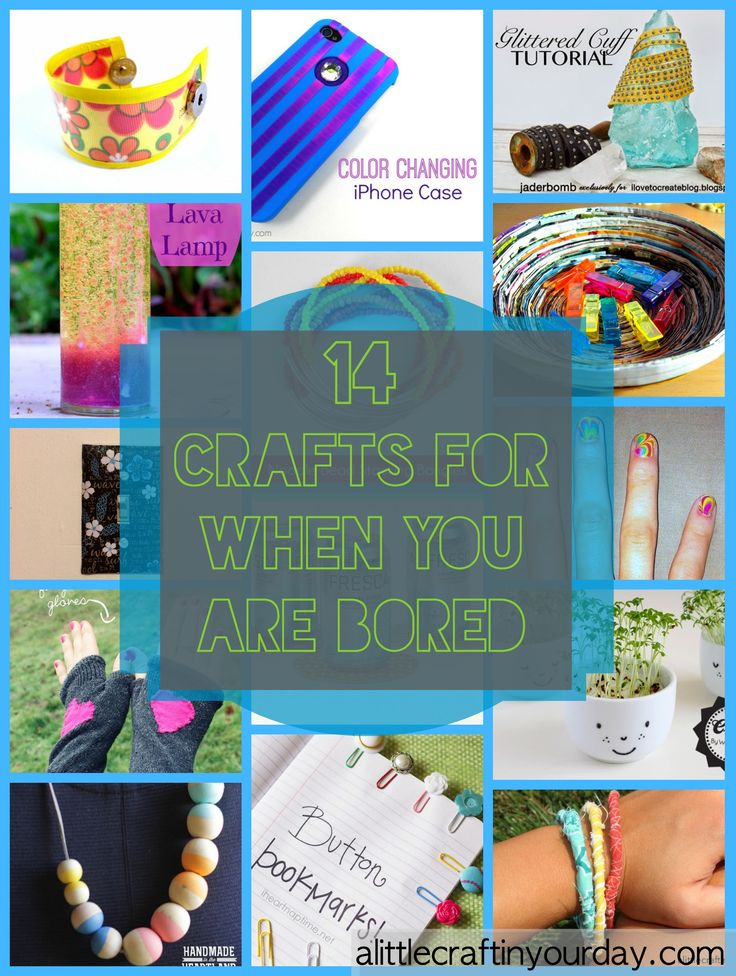 So here are just 14 crafts for when you are bored, you're sure to love them! T...