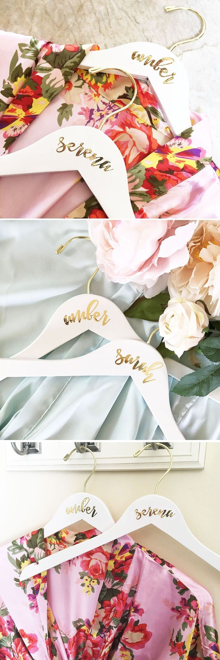 Bridesmaids Hangers - Give your maid of honor and bridesmaids a wooden hanger pe...