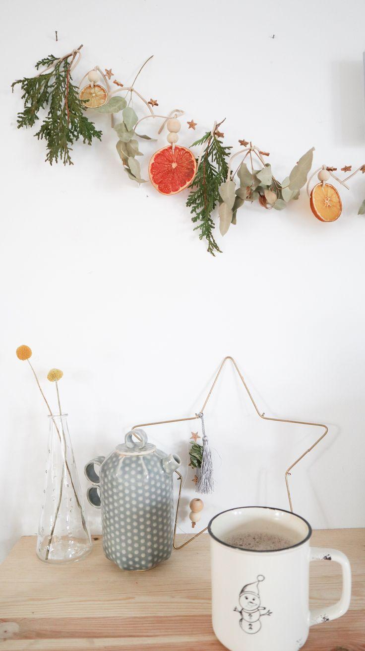 Citrus and greenery garland