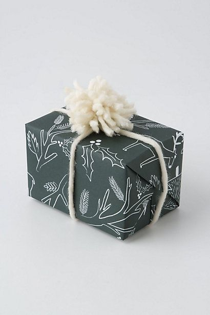 Anthropologie:: Good Tidings Wrapping Paper, Pine by Rifle Paper Co.
