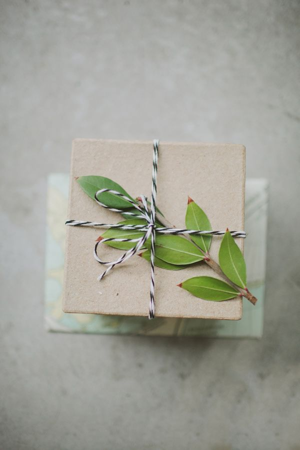 Bakers twine + greens