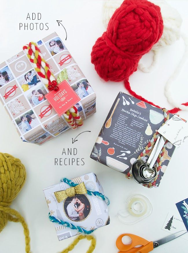 DIY Personalized Gift Wrapping, Braided Yarn Tutorial + $125 Minted Giveaway! (e...