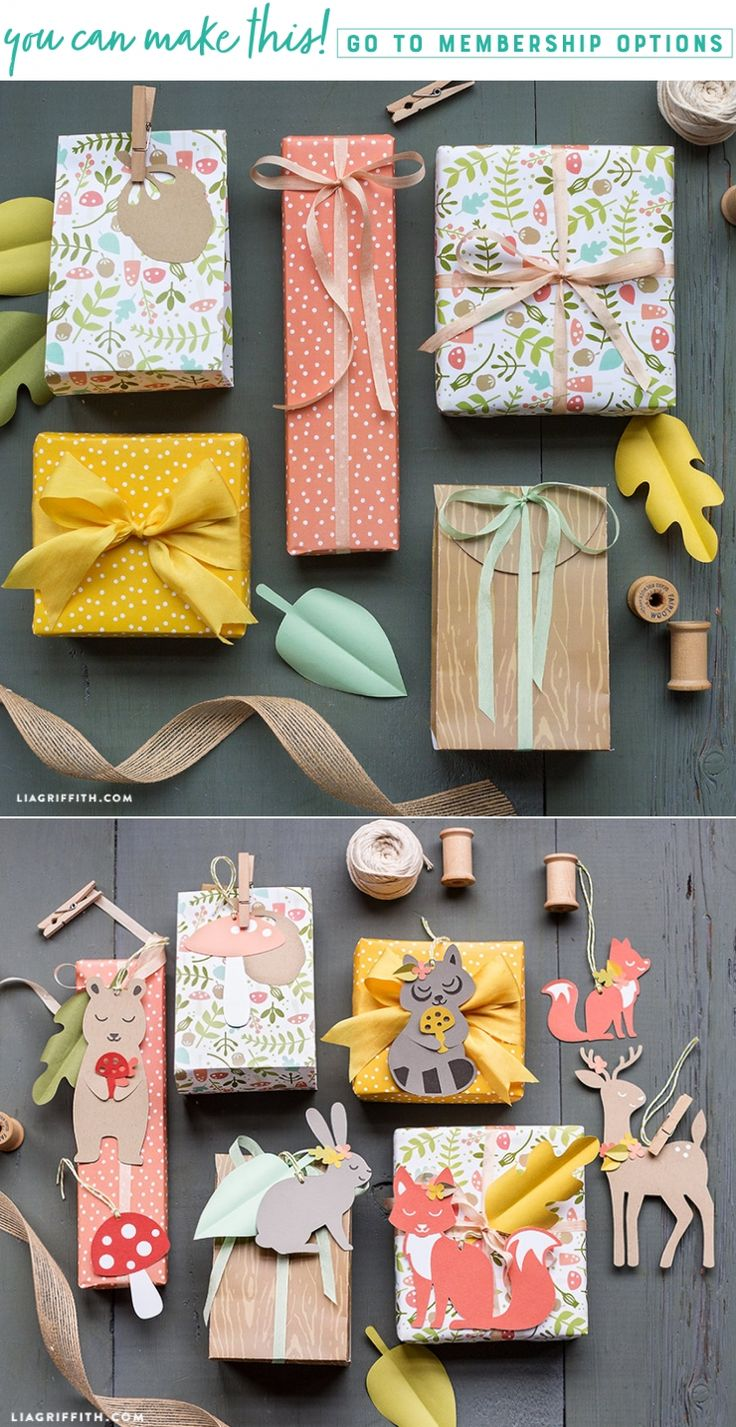 Download and print woodland gift wrapping paper for Spring! Designed by Lia Grif...