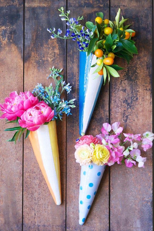 Floral Wall Cones