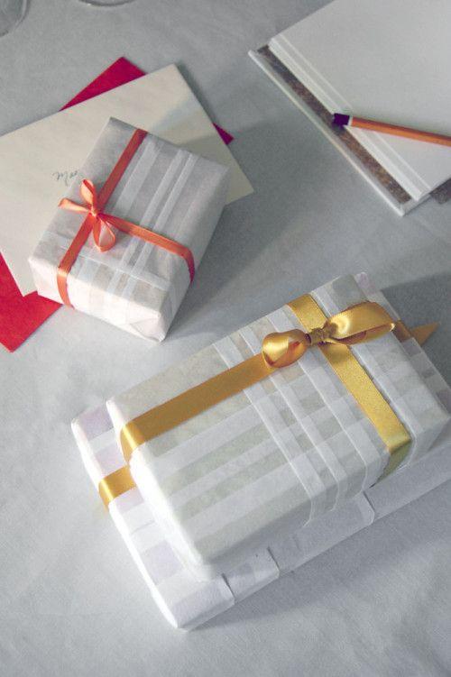 pintuck plaid wrapping via design sponge