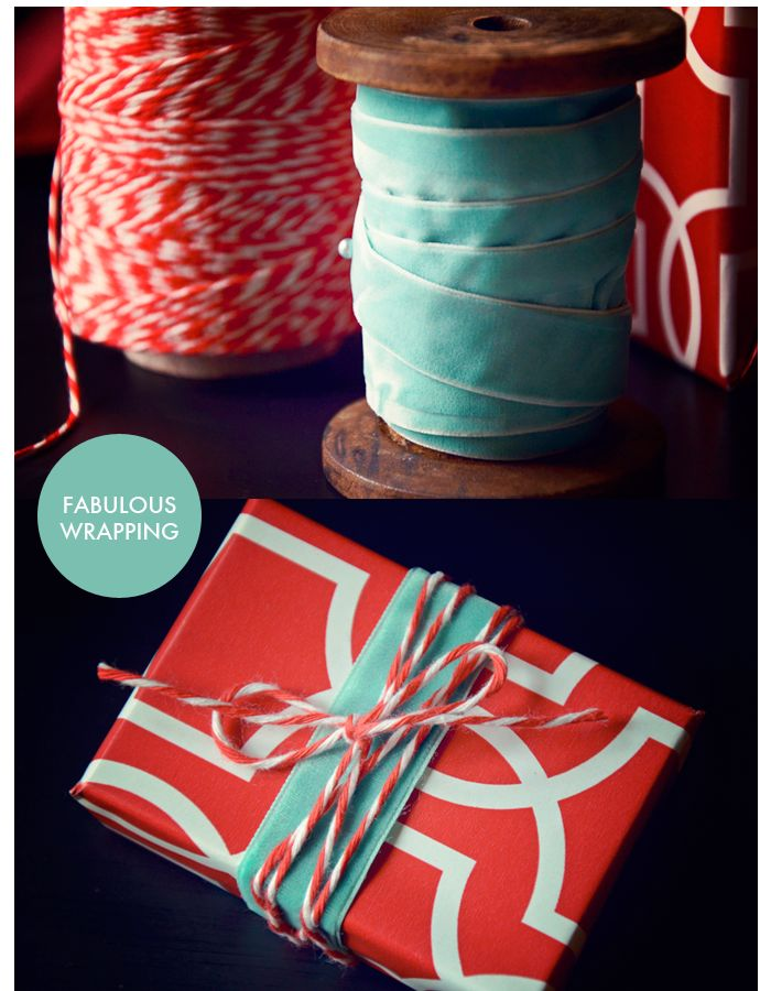 velvet + twine for wrapping