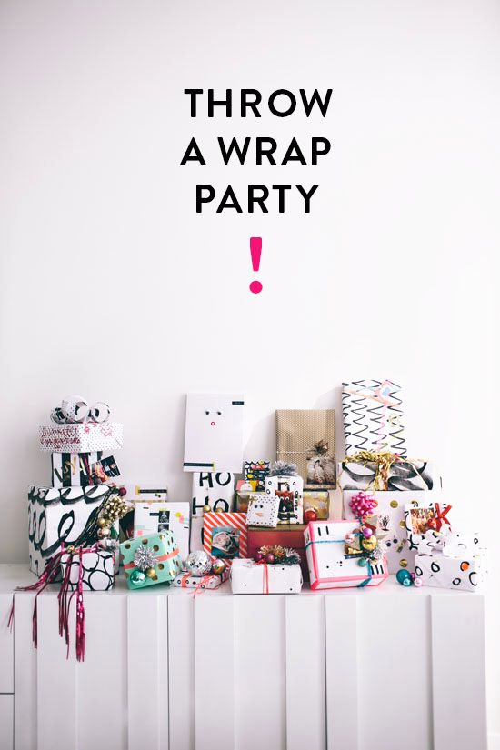 wrapping paper party ideas