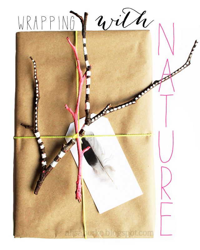 wrapping with nature..    #wrapping #packaging #DIY #Gifts