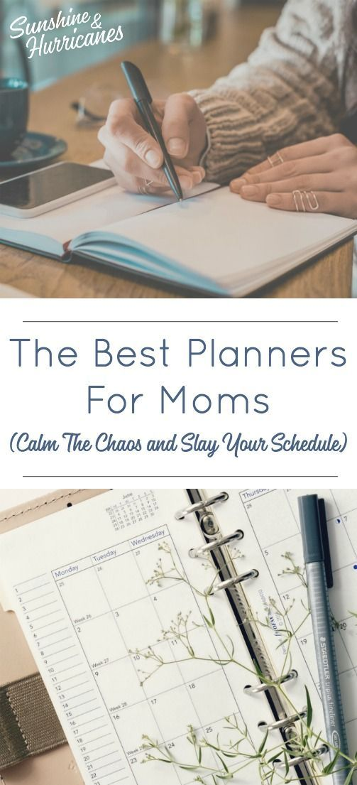 The Best Planners For Moms. So much To Do, So Many Schedules to Manage. Here's H...