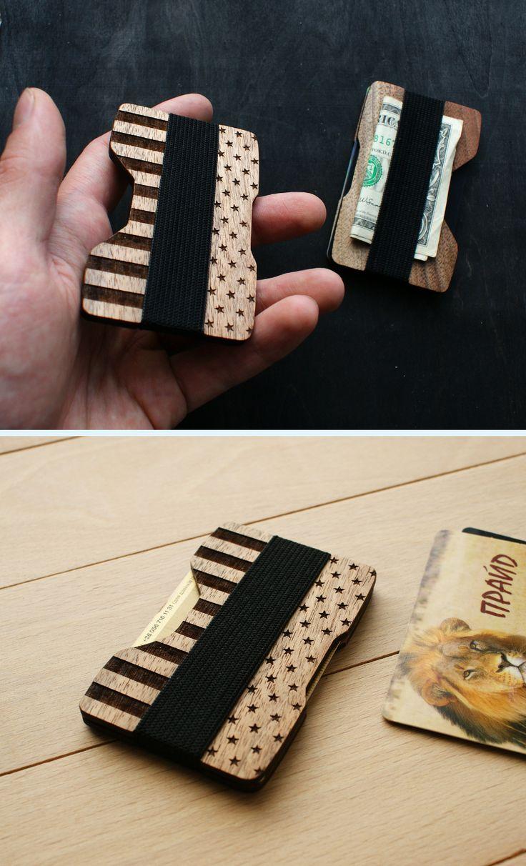 CUSTOM slim wallet card wallet cardholder card holder card case minimalist walle...