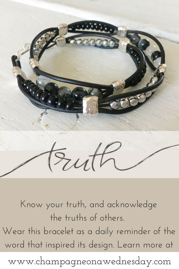 This leather wrap bracelet represents the idea of truth.  Truth lives in three s...