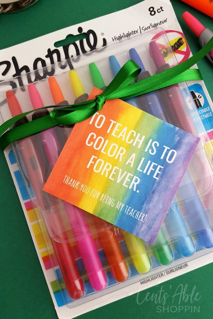 Teacher Appreciation Gift Tag Printable via Sheryl ~ The Cents'Able Shoppin