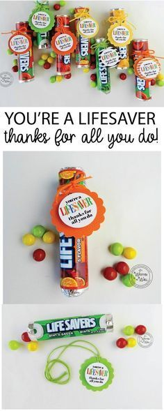 You're a LIFESAVER—Thanks For All You Do! Teacher Recognition, Employee Re...