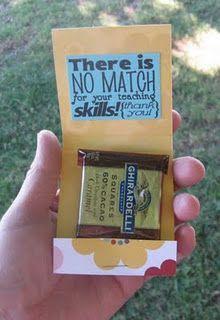 teacher appreciation matchbook candy holders