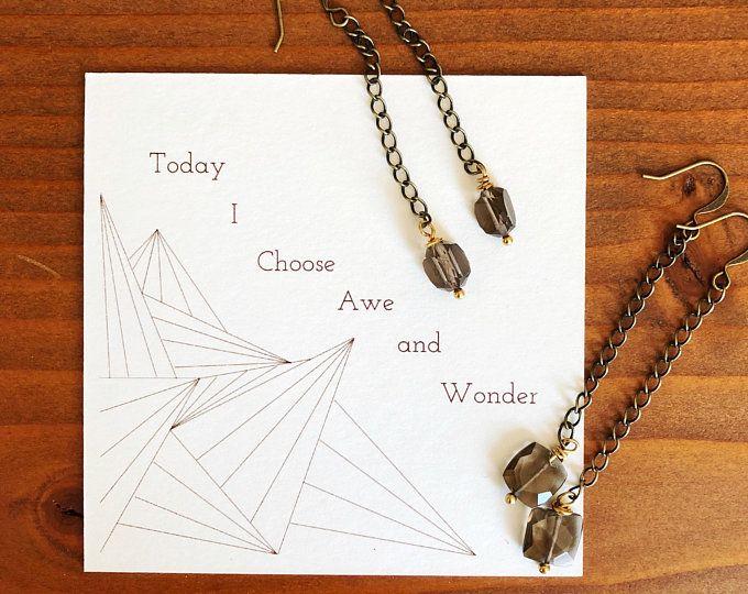 Handmade inspirational gemstone jewelry by ChampagneonWednesday