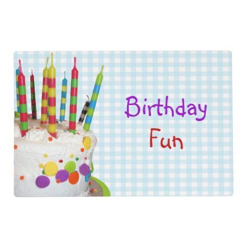 Birthday Fun Placemat