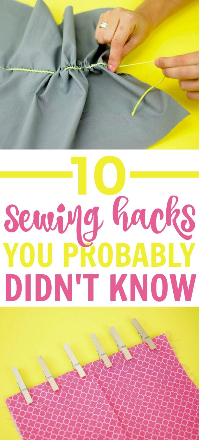I'm so happy to share these 10 Sewing Hacks You Probably Didn't Know with yo...