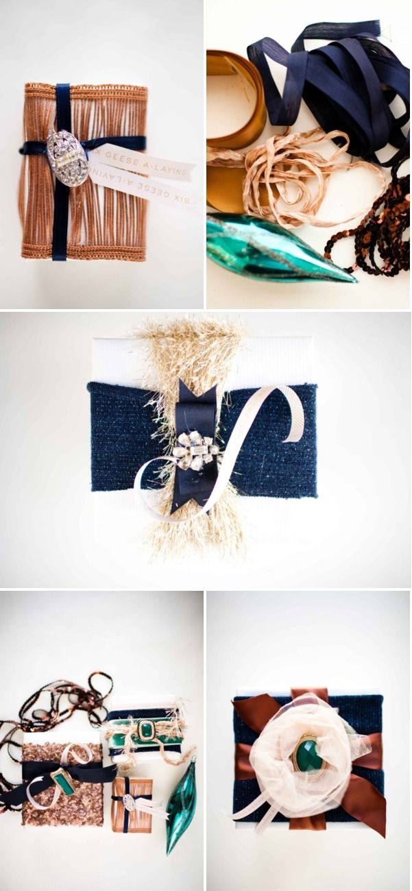 DIY Gift Wrap from Grey Likes Weddings + Free Download | Style Me Pretty