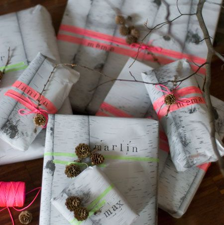 Wrap masking tape around a gift as decoration. [ From: wunderschoen-gema... ]