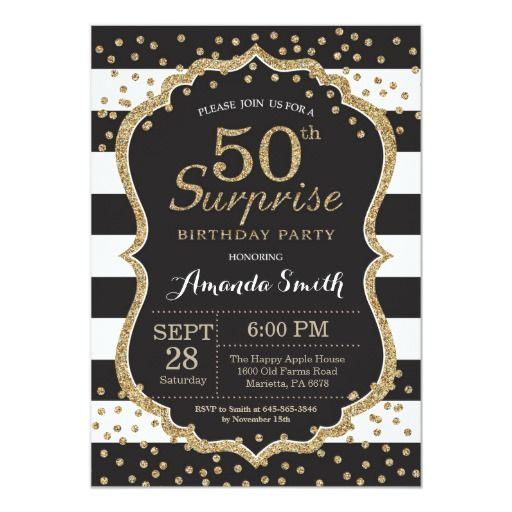 Birthday Gifts Surprise 50th Invitation