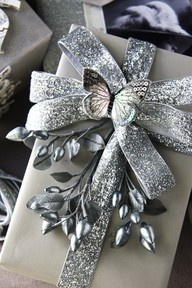 Sparkle inspiration | www.myLusciousLif... - silver sparkle butterfly wrap