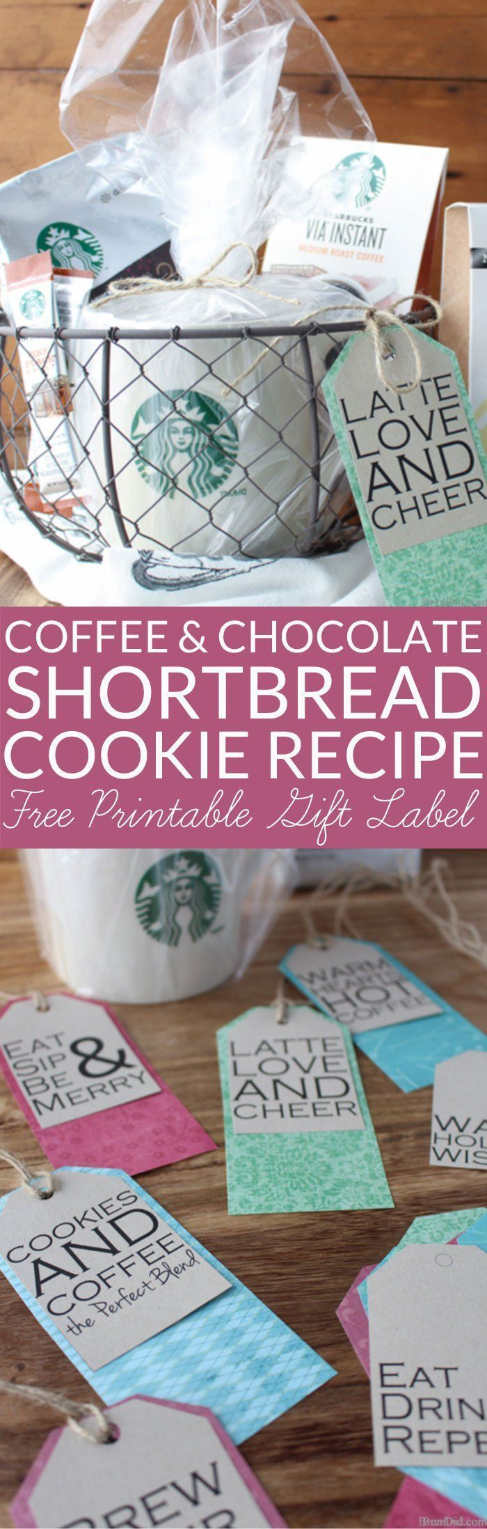 This Coffee and Chocolate Shortbread Recipe is perfect for cookie exchanges and ...