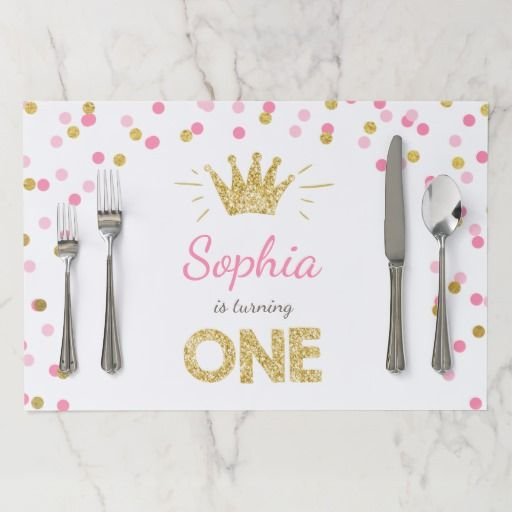 Birthday Gifts Ideas Princess First Placemat Girl Pink