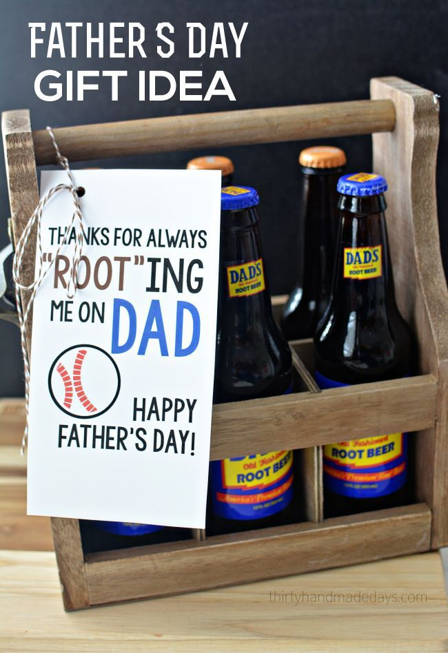 Printable Root Beer Father's Day Gift Idea - something simple and sweet to give ...