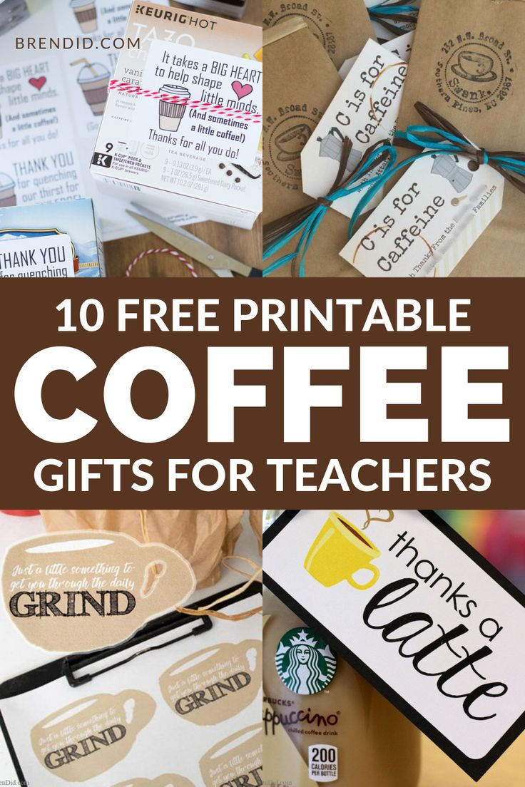 Easy Coffee Gift Ideas with Free Printable Tags