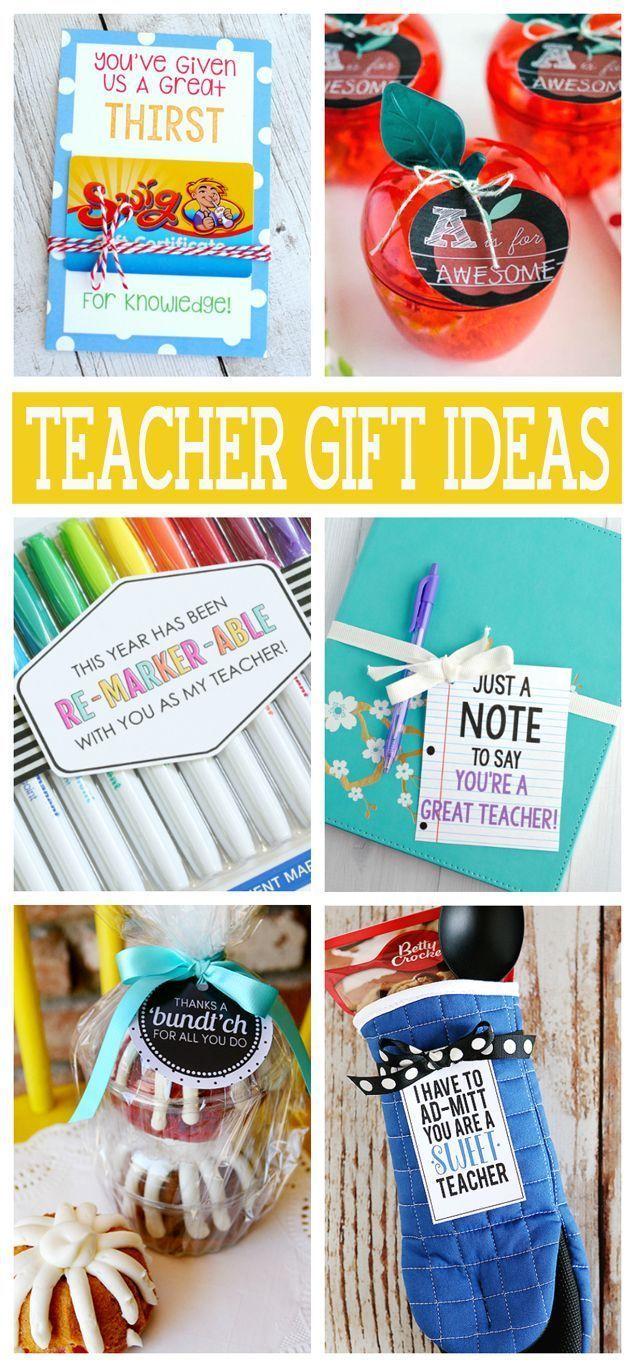 Teacher Appreciation Gift Ideas that all teachers will love!
