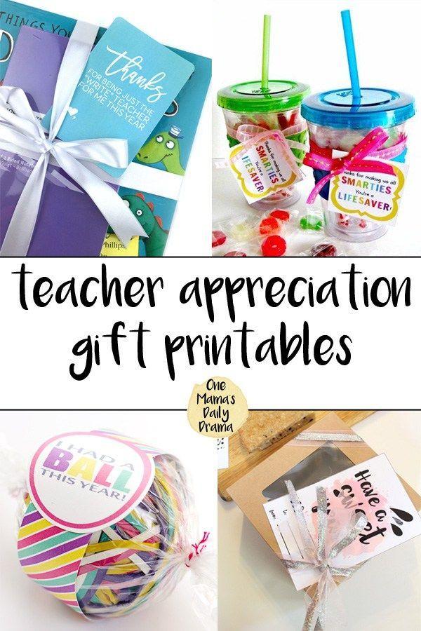 Teacher Gifts Ideas Appreciation Week Free