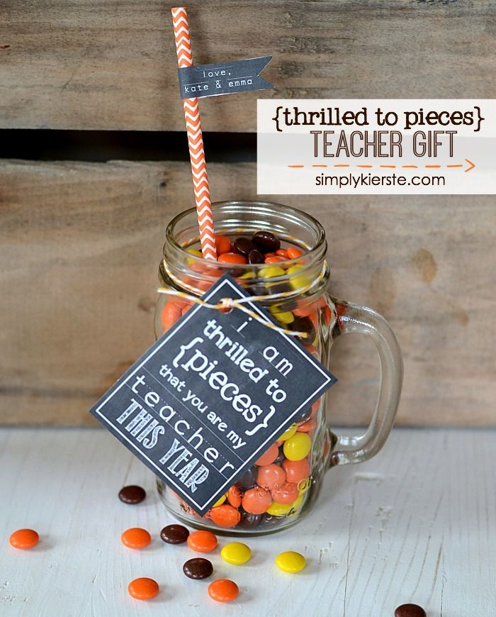 Thrilled to Pieces Teacher Gift: Free printable for both the beginning AND end o...