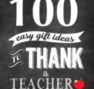 100 ways to thank a teacher