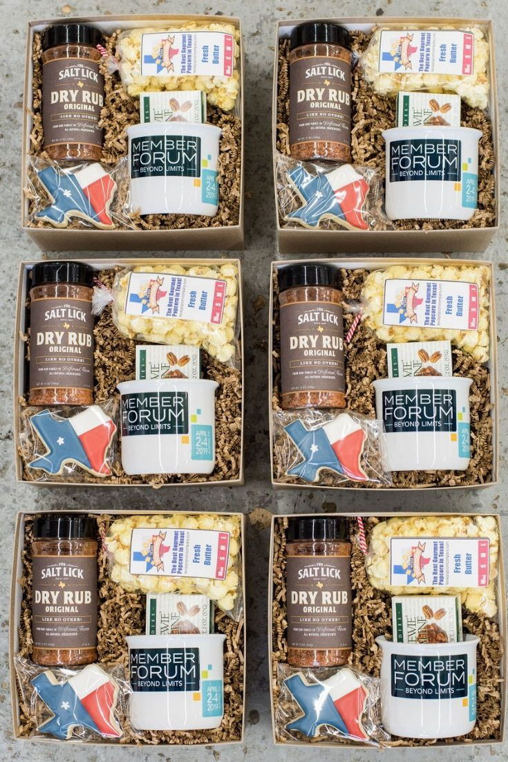 CORPORATE EVENT GIFTS// Texas inspired corporate event gifts welcome business pr...