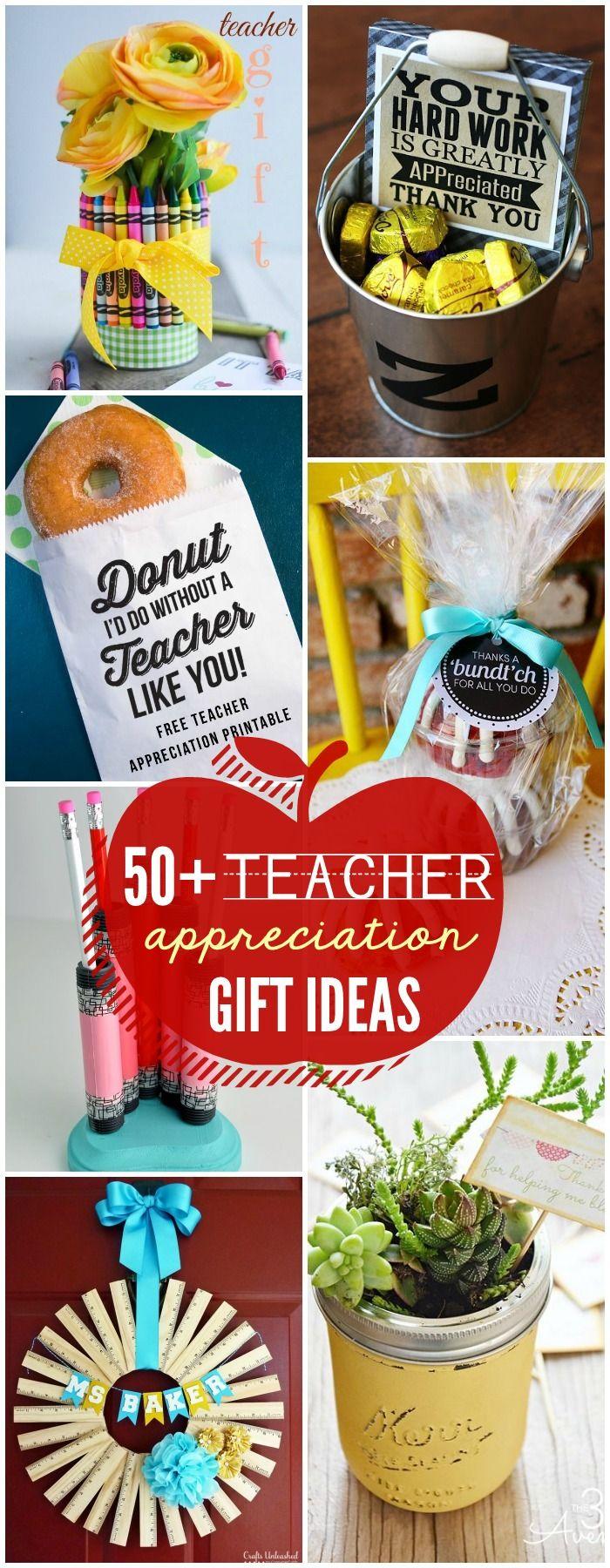 50+ Must-See Teacher Appreciate Gift Ideas on { lilluna.com } Lots of cute and e...
