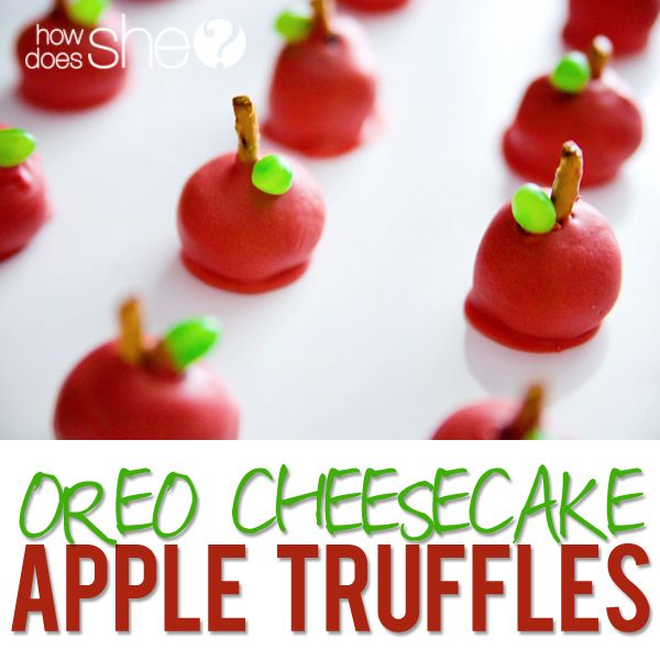 Amazing Oreo Cheesecake Apple Truffles! The cutest little treats to give as a Te...